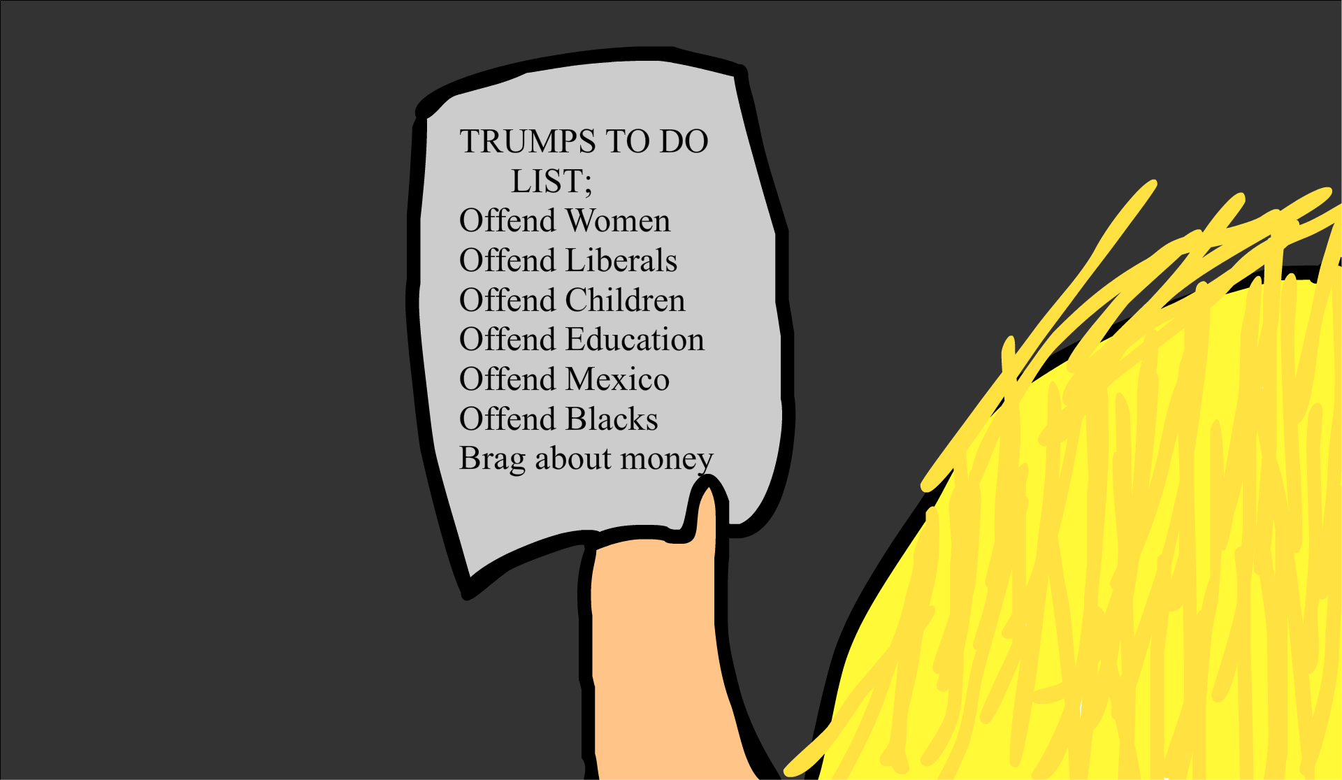 Trumps To Do List
